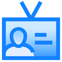 Badge, identification, Id, Data, profile, user DodgerBlue icon