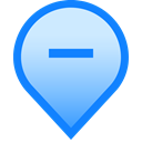 delete, Minus, Hide, tag, mark, pin, geolocation DodgerBlue icon
