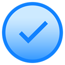 complete, downloaded, Circle, Added, done DodgerBlue icon