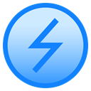 electricity, Circle, charge, power, lightning, Battery DodgerBlue icon