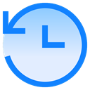 Safe, Data, backup, save, Arrow, refresh, Clock Lavender icon