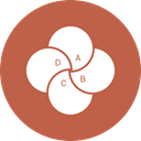 chart, pie, Business, ratio IndianRed icon