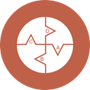 Business, ratio, chart, pie IndianRed icon
