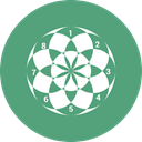 Flower, chart, pie, Business, ratio MediumSeaGreen icon