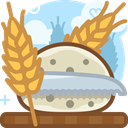 Bread, Knife, Wheat, food, Cutting, Rye, yumminky Peru icon