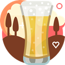 glass, beer, pub, yumminky, tavern, Alcohol, drink SaddleBrown icon