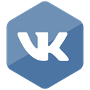 media, social media, Social, Colored, Hexagon, Vk, High Quality CadetBlue icon