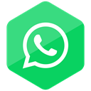 media, social media, Social, Colored, Hexagon, Whatsapp, High Quality MediumSeaGreen icon