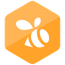 Colored, Hexagon, swarm, media, social media, Social, High Quality SandyBrown icon