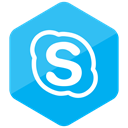 High Quality, media, Skype, social media, Social, Colored, Hexagon DeepSkyBlue icon