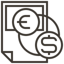 Finance, Money, Cash, Dollar, Currency, exchange, Accounting Icon