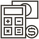 Cash, Dollar, Currency, calculator, Finance, Money, Accounting DarkSlateGray icon