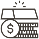 gold, Finance, Money, Currency, Loan, asset, pawnshop DarkSlateGray icon