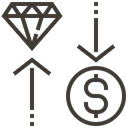 Money, Cash, diamond, pawnshop, exchange, Loan, asset Black icon
