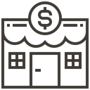 store, commerce, ecommerce, Shop, Loan, asset, pawnshop DarkSlateGray icon