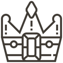 banking, asset, pawnshop, king, crown, Loan DarkSlateGray icon
