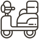 Loan, transportation, transport, vehicle, pawnshop, Scooter, asset DarkSlateGray icon
