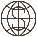 global, Money, coin, Cash, Dollar, Loan, pawnshop DarkSlateGray icon