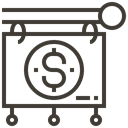 commerce, Shop, market, Loan, asset, pawnshop DarkSlateGray icon