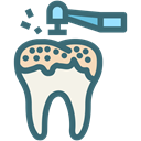 Dentistry, Teeth Cleaning, oral hygiene, Dentist, tooth, dental, Decayed tooth SeaGreen icon