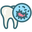 Dentistry, oral hygiene, oral bacteria, tooth, Bacteria, dental, Dentist SeaGreen icon
