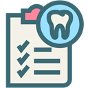 Dentist, medical, tooth, dental, Dentistry, oral hygiene, dental records SeaGreen icon