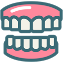 Dentist, Dentistry, Denture, gums, medical, tooth, dental SeaGreen icon