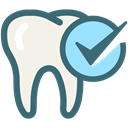 medical, tooth, Dentistry, Dentist, Dental Care, oral hygiene, tooth check SeaGreen icon