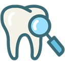 search, Dentist, medical, tooth, dental, Dentistry, oral hygiene SeaGreen icon