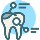Dentist, Dentistry, dental records, toothx rays, detail, tooth, dental LightSkyBlue icon