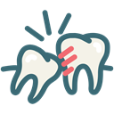 Dentist, tooth, dental, Dentistry, Toothache, dental treatment, wisdom tooth Black icon