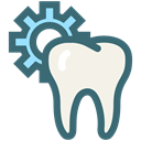 Dentistry, oral hygiene, tooth setting, Dentist, Teeth, tooth, dental SeaGreen icon