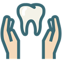 Dentist, Dentistry, Dental Care, dental health care, Hands, tooth, dental SeaGreen icon