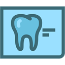 X Rays, dental records, tooth x ray, Dentist, tooth, dental, Dentistry LightSkyBlue icon