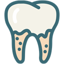 Dentistry, Teeth Cleaning, Decayed tooth, dental treatment, Dentist, tooth, dental Linen icon