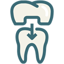 dental, Dentistry, dental treatment, dental crown, Dentist, Teeth, tooth Linen icon
