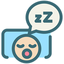 Dentistry, oral hygiene, snore, tooth, Sleeping, dental, Dentist SeaGreen icon