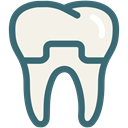 Dentist, Teeth, tooth, dental, Dentistry, dental treatment, dental crown Linen icon