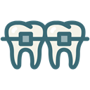 oral hygiene, dental orthodontic treatment, tooth, dental, Dentistry, Dentist, medical Black icon