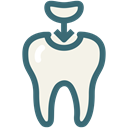 Dentist, medical, dental, Dentistry, Decayed tooth, dental treatment, molar cavity Black icon