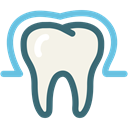 tooth, dental, Enamel, enamel teeth, Dentist, medical, Protection Linen icon