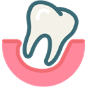 dental, Dentistry, dental treatment, Dentist, medical, tooth, loose tooth LightCoral icon