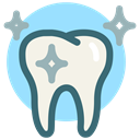 Dentist, Clean, Bright, tooth, dental, Dental Care, white tooth LightSkyBlue icon