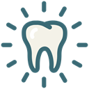 dental, Dentistry, Dental Care, Dentist, Bright, tooth, white tooth Black icon