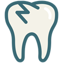 Dentist, Broken, tooth, dental, Dentistry, Broken Tooth, dental treatment Linen icon