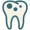 Dentist, tooth, dental, Dentistry, Caries, Decayed tooth, dental treatment Linen icon