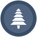 Tree, christmas, new year, Christmas tree DimGray icon