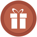 present, surprise, award, gift IndianRed icon