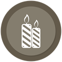 light, christmas, decoration, Candel Gray icon
