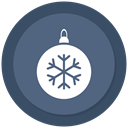 Ball, christmas, ornament, bauble DimGray icon